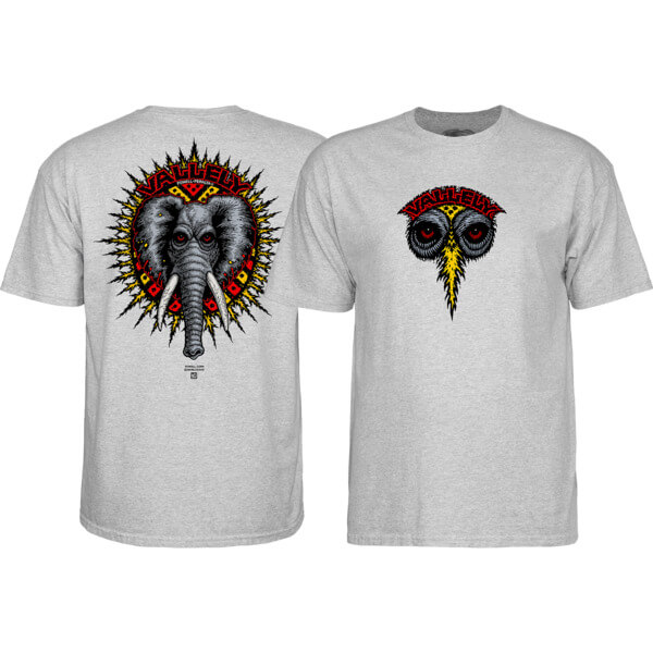 Powell Peralta Mike Vallely Vallely Elephant Grey Heather Men's Short Sleeve T-Shirt - Small