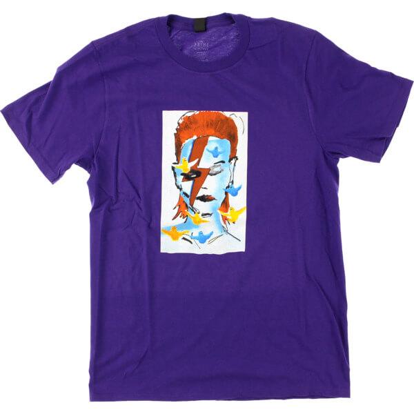 Prime Heritage Gonz Bowie Purple Men's Short Sleeve T-Shirt - Large