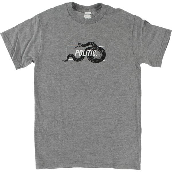 Politic Snake in a Box Heather Grey Men's Short Sleeve T-Shirt - Medium