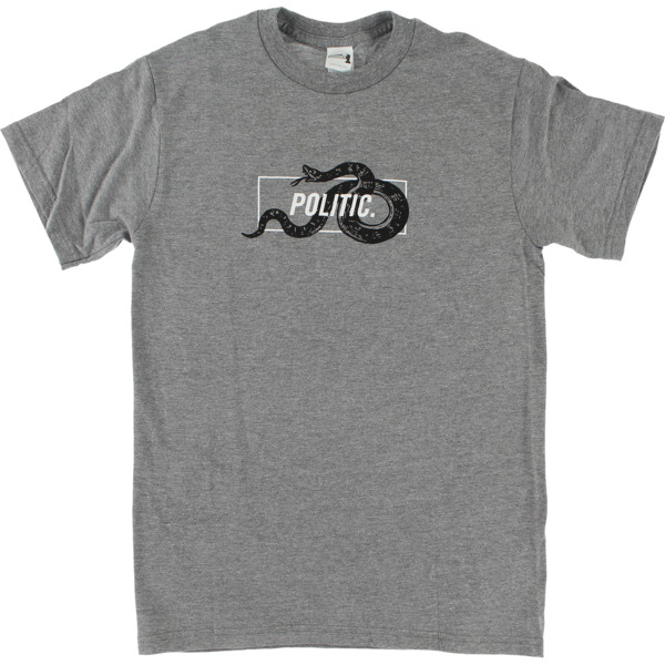 Politic Snake in a Box Heather Grey Men's Short Sleeve T-Shirt - X-Large