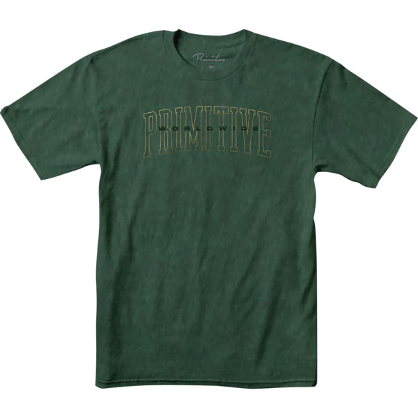 Primitive Skateboarding Collegiate Worldwide Green Pigment Men's Short Sleeve T-Shirt - Small
