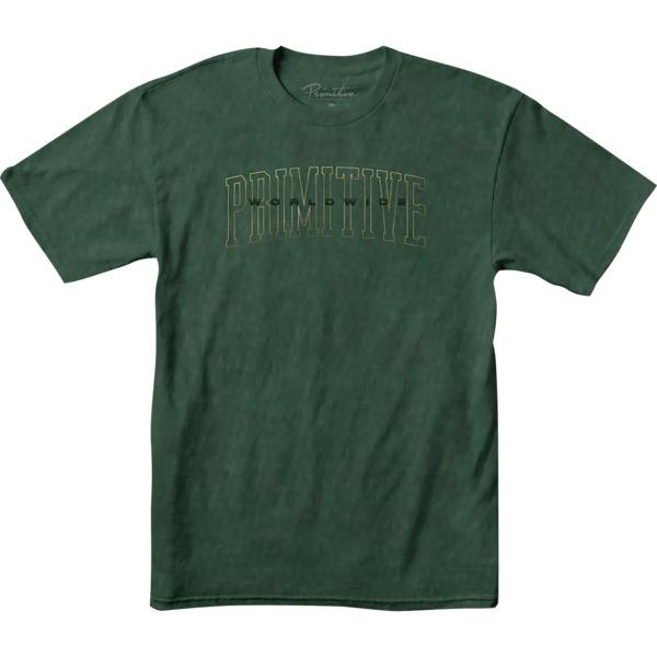 Primitive Skateboarding Collegiate Worldwide Green Pigment Men's Short Sleeve T-Shirt - Medium