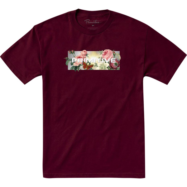 Primitive Skateboarding Daybreak Burgundy Men's Short Sleeve T-Shirt - X-Large