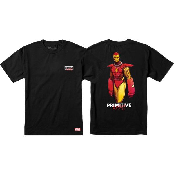 Primitive Skateboarding Marvel Iron Man Black Men's Short Sleeve T-Shirt - Small