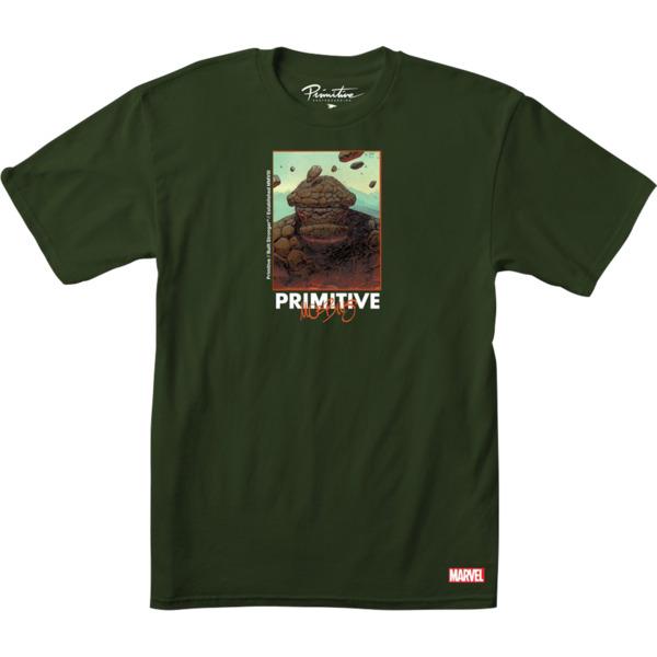 Primitive Skateboarding Marvel The Thing Military Green Men's Short Sleeve T-Shirt - Small
