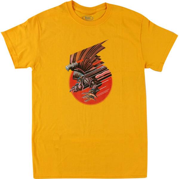 Real Skateboards Screaming Bird Gold Men's Short Sleeve T-Shirt - Medium