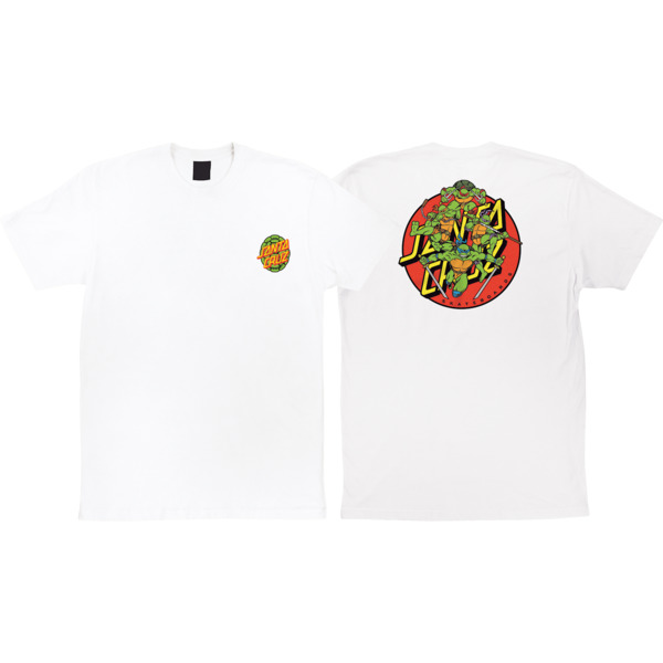 1aea41a95ab Santa Cruz Skateboards TMNT Turtle Power White Men s Short Sleeve T-Shirt -  Large - Warehouse Skateboards