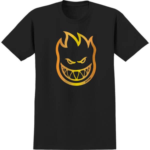 Spitfire Wheels Bighead Fade Black / Yellow / Orange Men's Short Sleeve T-Shirt - Small