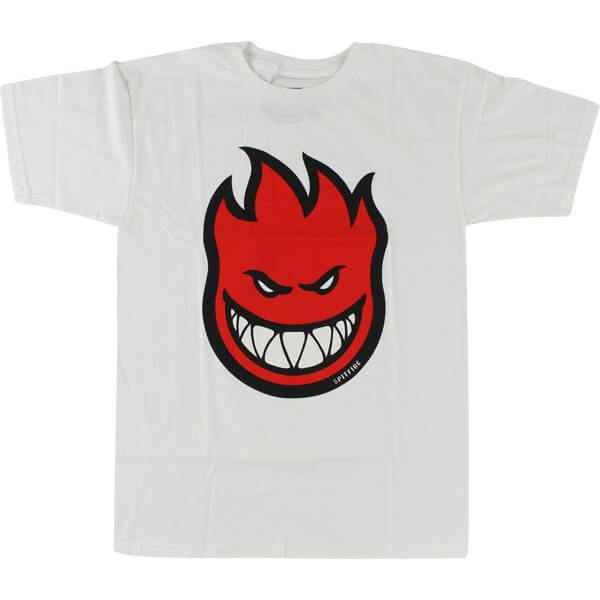 Spitfire Wheels Bighead Fill White / Red Men's Short Sleeve T-Shirt - Medium