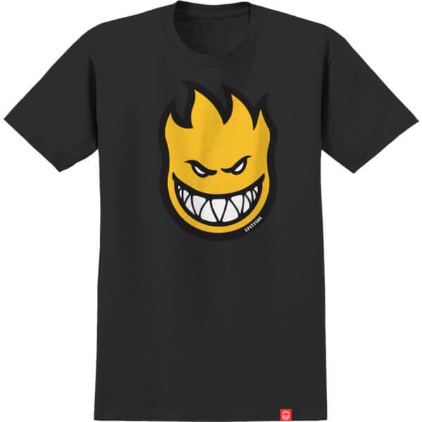 Spitfire Wheels Bighead Fill Black / Yellow Men's Short Sleeve T-Shirt - Large
