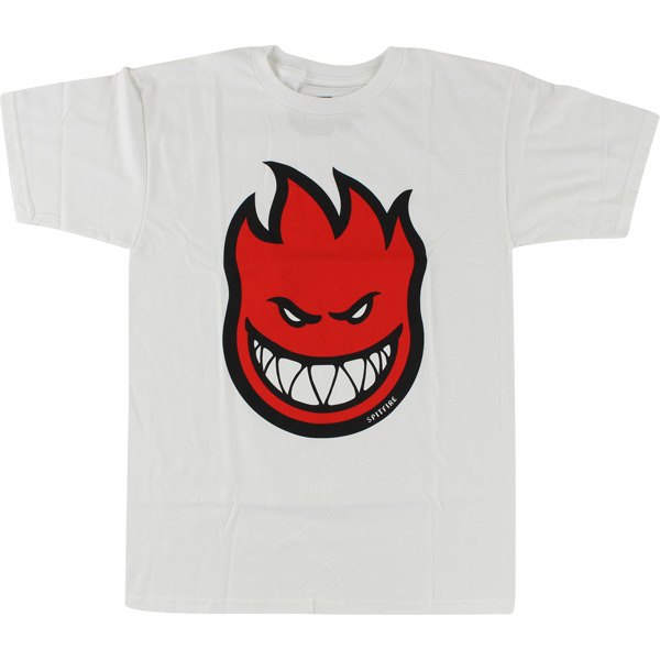 Spitfire Wheels Bighead Fill White / Red Men's Short Sleeve T-Shirt - Large