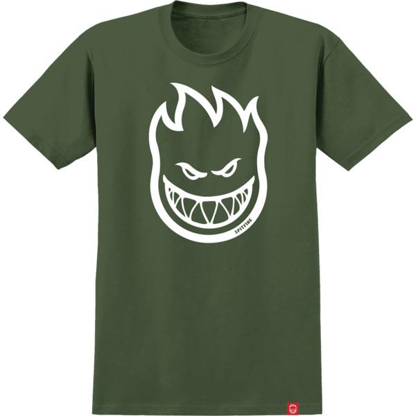 Spitfire Wheels Bighead Military Green / White Men's Short Sleeve T-Shirt - Small