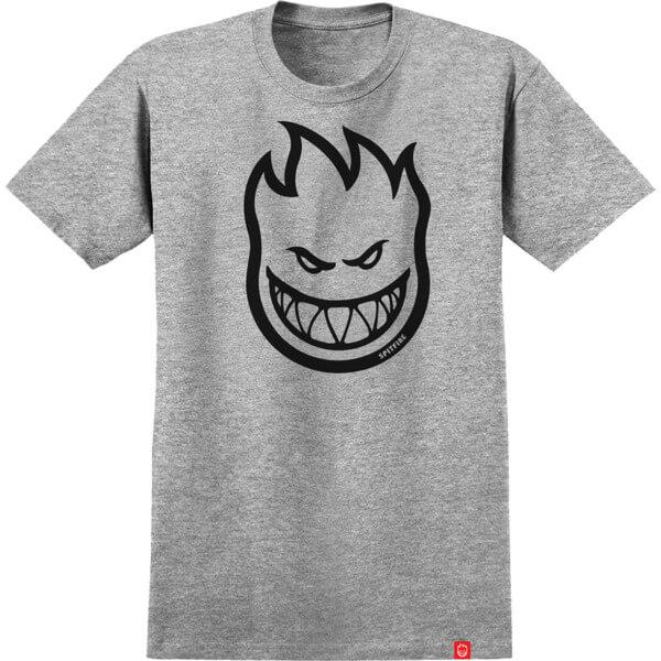 Spitfire Wheels Bighead Grey / Black Men's Short Sleeve T-Shirt - Medium