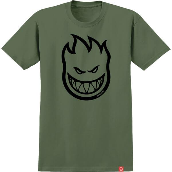 Spitfire Wheels Bighead Military Green / Black Men's Short Sleeve T-Shirt - X-Large