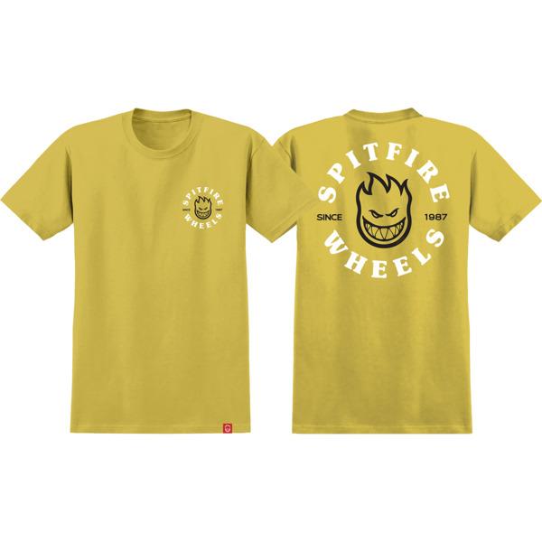 Spitfire Wheels Classic Bighead Mustard / Black / White Men's Short Sleeve T-Shirt - X-Large