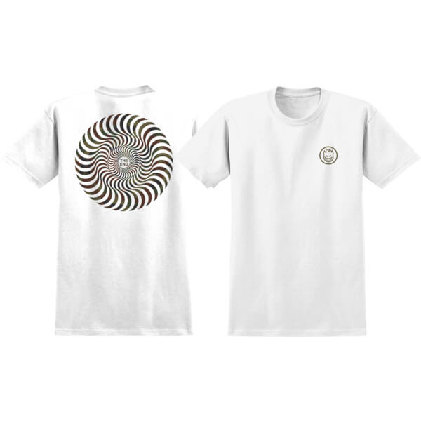 Spitfire Wheels Classic Swirl White / Camo Men's Short Sleeve T-Shirt - Medium