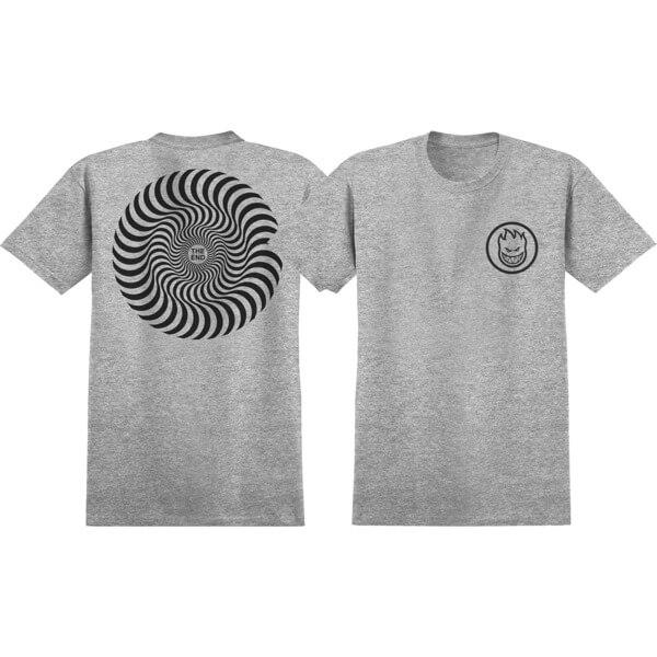 Spitfire Wheels Classic Swirl Athletic Heather / Black Men's Short Sleeve T-Shirt - Medium