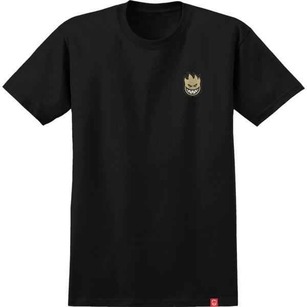 Spitfire Wheels Lil Bighead Black / Tan Men's Short Sleeve T-Shirt - Small