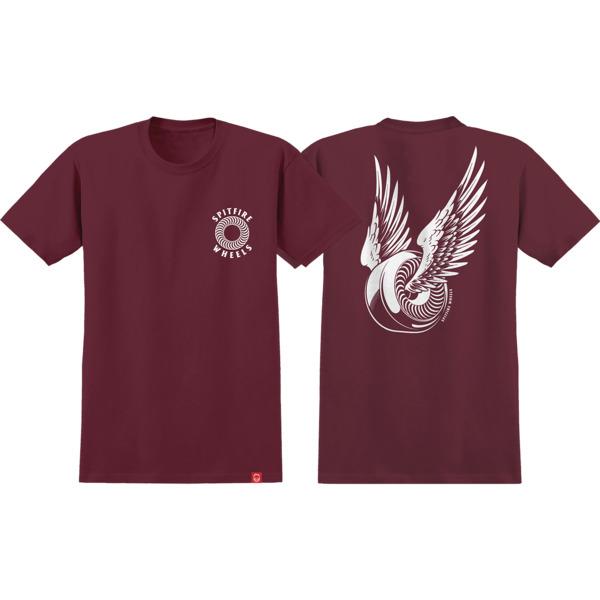 Spitfire Wheels OG Classic Burgundy / White Men's Short Sleeve T-Shirt - Small