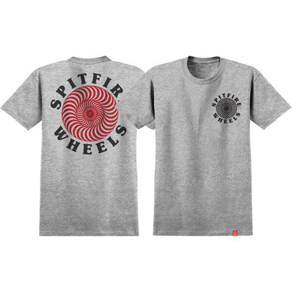 Spitfire Wheels OG Classic Athletic Heather / Black Men's Short Sleeve T-Shirt - Medium