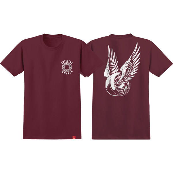 Spitfire Wheels OG Classic Burgundy / White Men's Short Sleeve T-Shirt - Medium