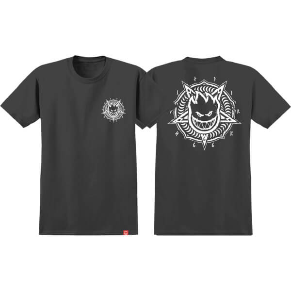 Spitfire Wheels Pentaburn Double Black Mineral / White Men's Short Sleeve T-Shirt - Medium