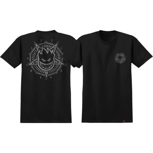 Spitfire Wheels Pentaburn Double Black / Grey Men's Short Sleeve T-Shirt - X-Large