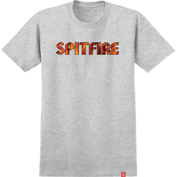 Spitfire Wheels Pyre Athletic Heather Men's Short Sleeve T-Shirt - Small