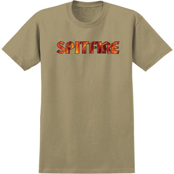 Spitfire Wheels Pyre Sand Men's Short Sleeve T-Shirt - Small