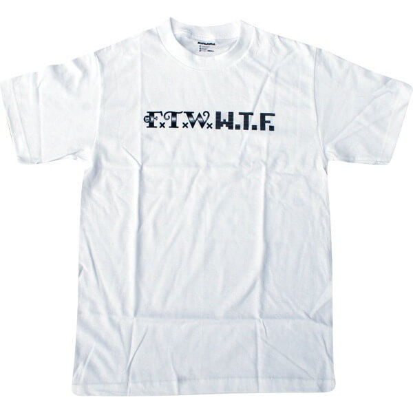 Skate Mental FTW WTF White Men's Short Sleeve T-Shirt - Small