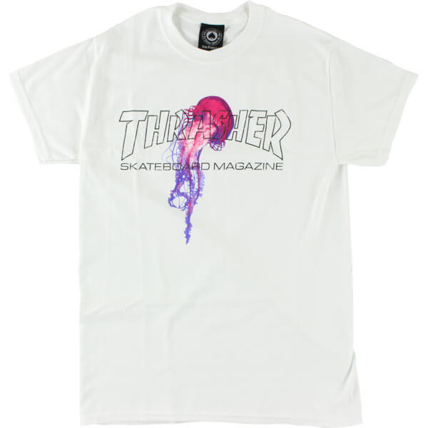 bce2a1bc Thrasher Magazine Atlantic Drift White Men's Short Sleeve T-Shirt - X-Large  - Warehouse Skateboards