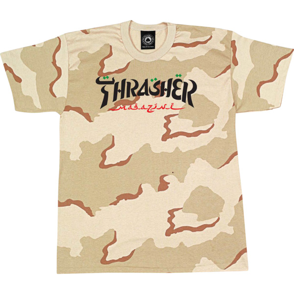 Thrasher Magazine Calligraphy Men's Short Sleeve T-Shirt