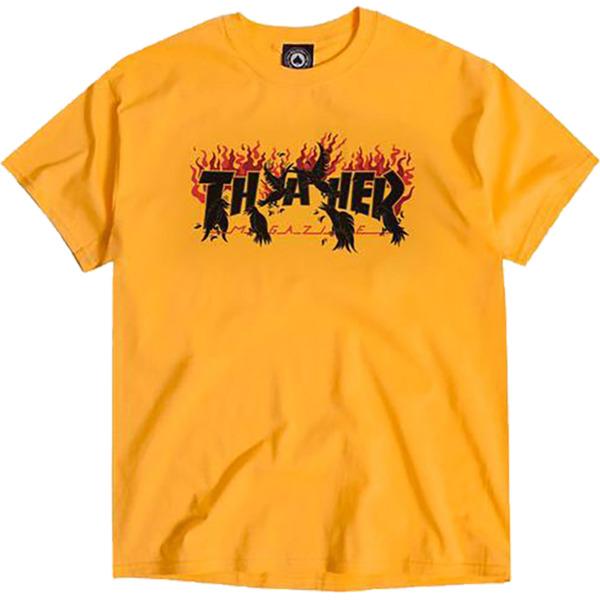 Thrasher Magazine Crows Gold Men's Short Sleeve T-Shirt - X-Large