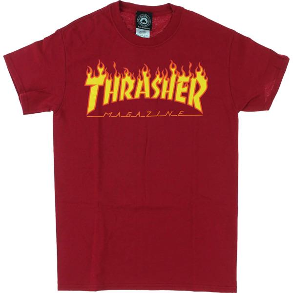 Thrasher Magazine Flame Cardinal Red Men's Short Sleeve T-Shirt - X-Large