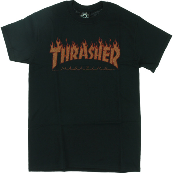 Thrasher Magazine Flame Halftone Men's Short Sleeve T-Shirt