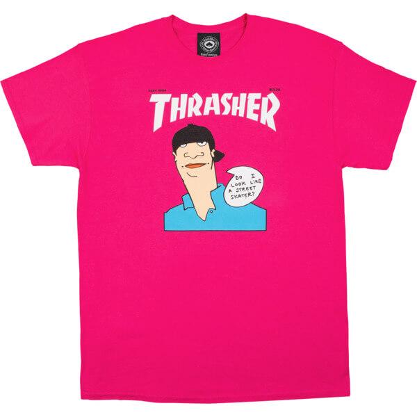 71d5191b56ed Thrasher Magazine Gonz Cover Pink Men's Short Sleeve T-Shirt - Large -  Warehouse Skateboards