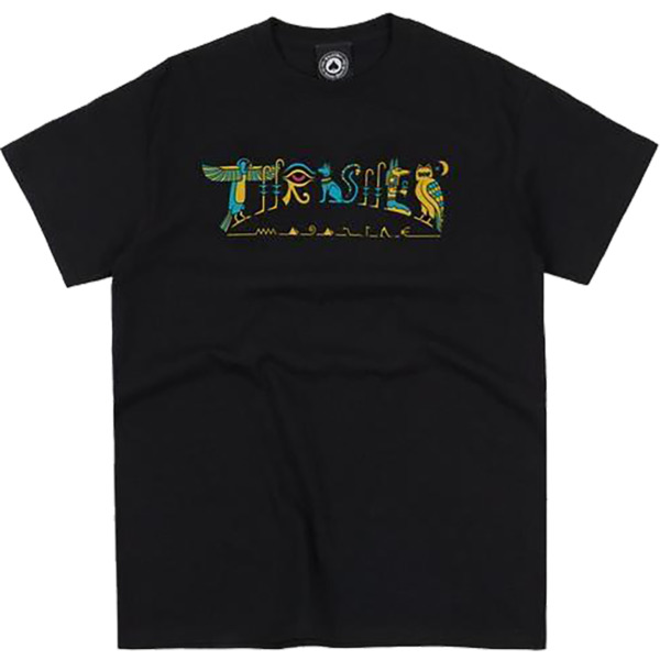 Thrasher Magazine Hieroglyphics Black Men's Short Sleeve T-Shirt - Small