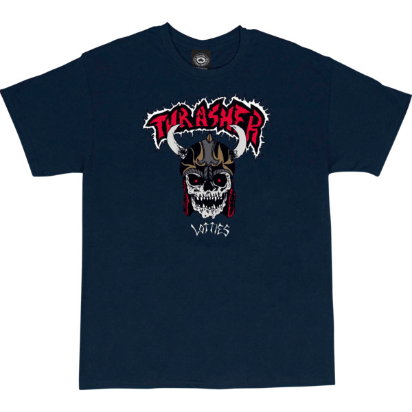 Thrasher Magazine Lotties Navy Men's Short Sleeve T-Shirt - X-Large