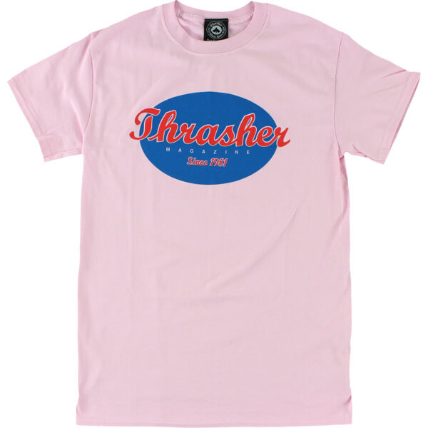 09194bb6 Thrasher Magazine Oval Pink Men's Short Sleeve T-Shirt - Large - Warehouse  Skateboards