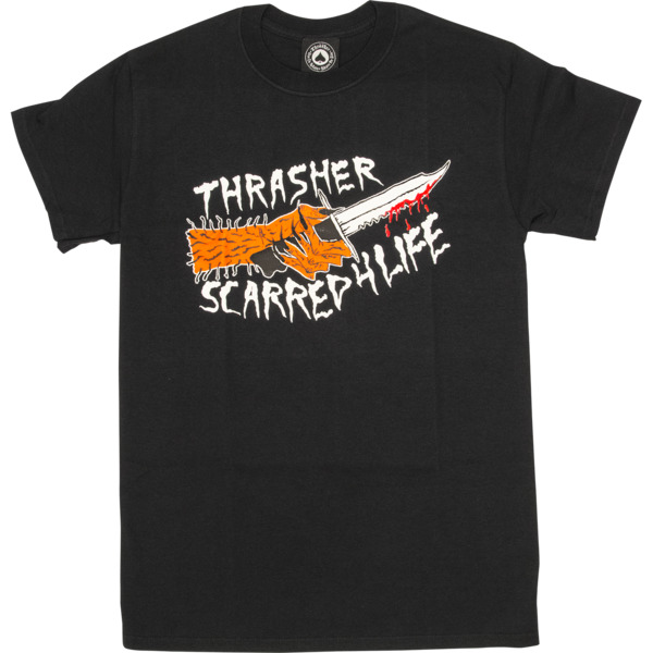Thrasher Magazine Scarred Black Men's Short Sleeve T-Shirt - Small