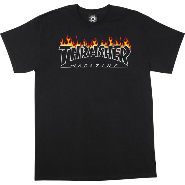 Thrasher Magazine Scorched Black Men's Short Sleeve T-Shirt - Small