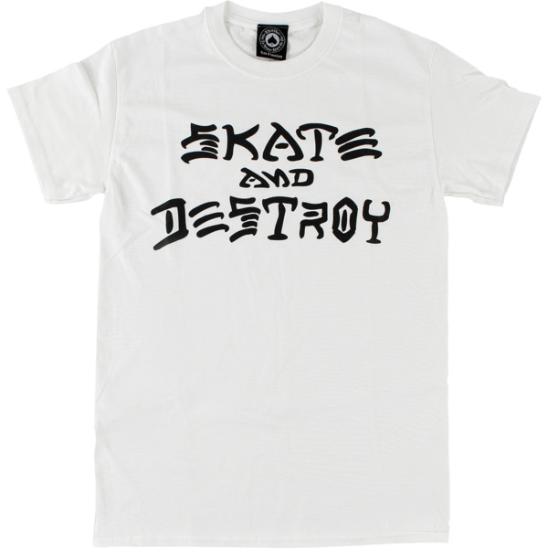 Thrasher Magazine Skate and Destroy White Men's Short Sleeve T-Shirt - Small