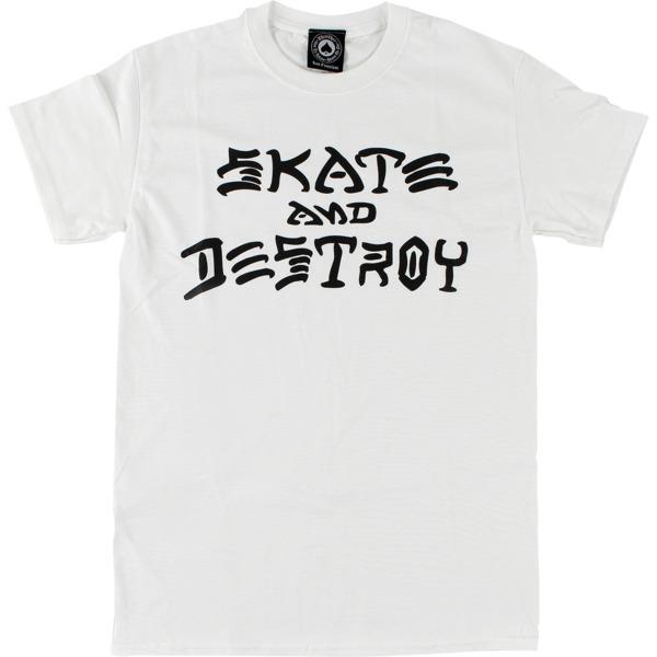 Thrasher Magazine Skate and Destroy White Men's Short Sleeve T-Shirt - Medium