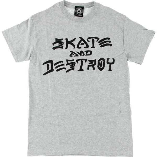 Thrasher Magazine Skate and Destroy Grey Men's Short Sleeve T-Shirt - Large