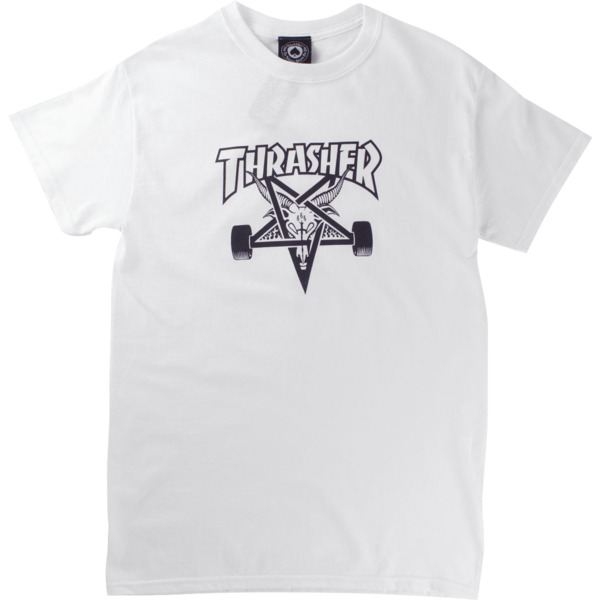 Thrasher Magazine Sk8goat White Men's Short Sleeve T-Shirt - Medium