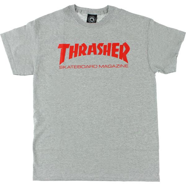 Thrasher Magazine Skate Mag Heather / Red Men's Short Sleeve T-Shirt - X-Large