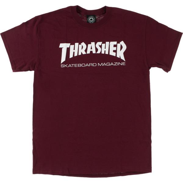 Thrasher Magazine Skate Mag Maroon / White Men's Short Sleeve T-Shirt - X-Large