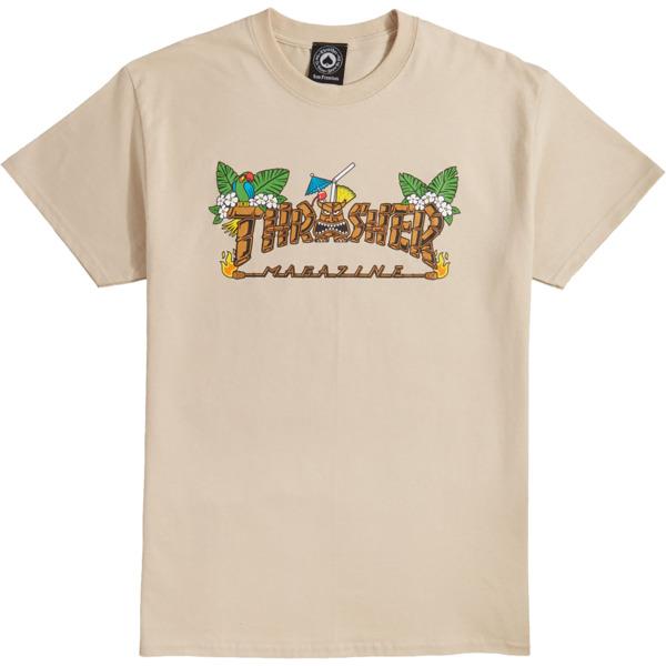 a546e3c3fcd2 Thrasher Magazine Tiki Sand Men's Short Sleeve T-Shirt - Medium - Warehouse  Skateboards