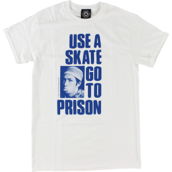 Thrasher Magazine Use a Skate White Men's Short Sleeve T-Shirt - Medium