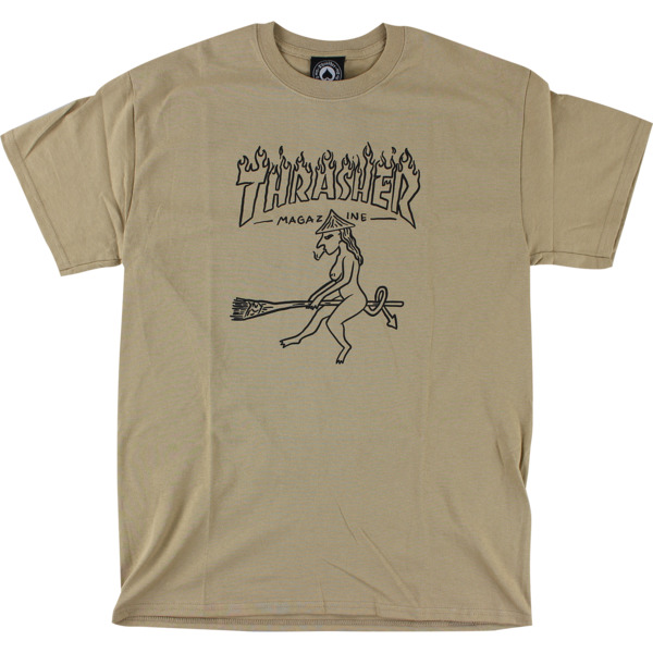 Thrasher Magazine Witch Tan Men's Short Sleeve T-Shirt - X-Large